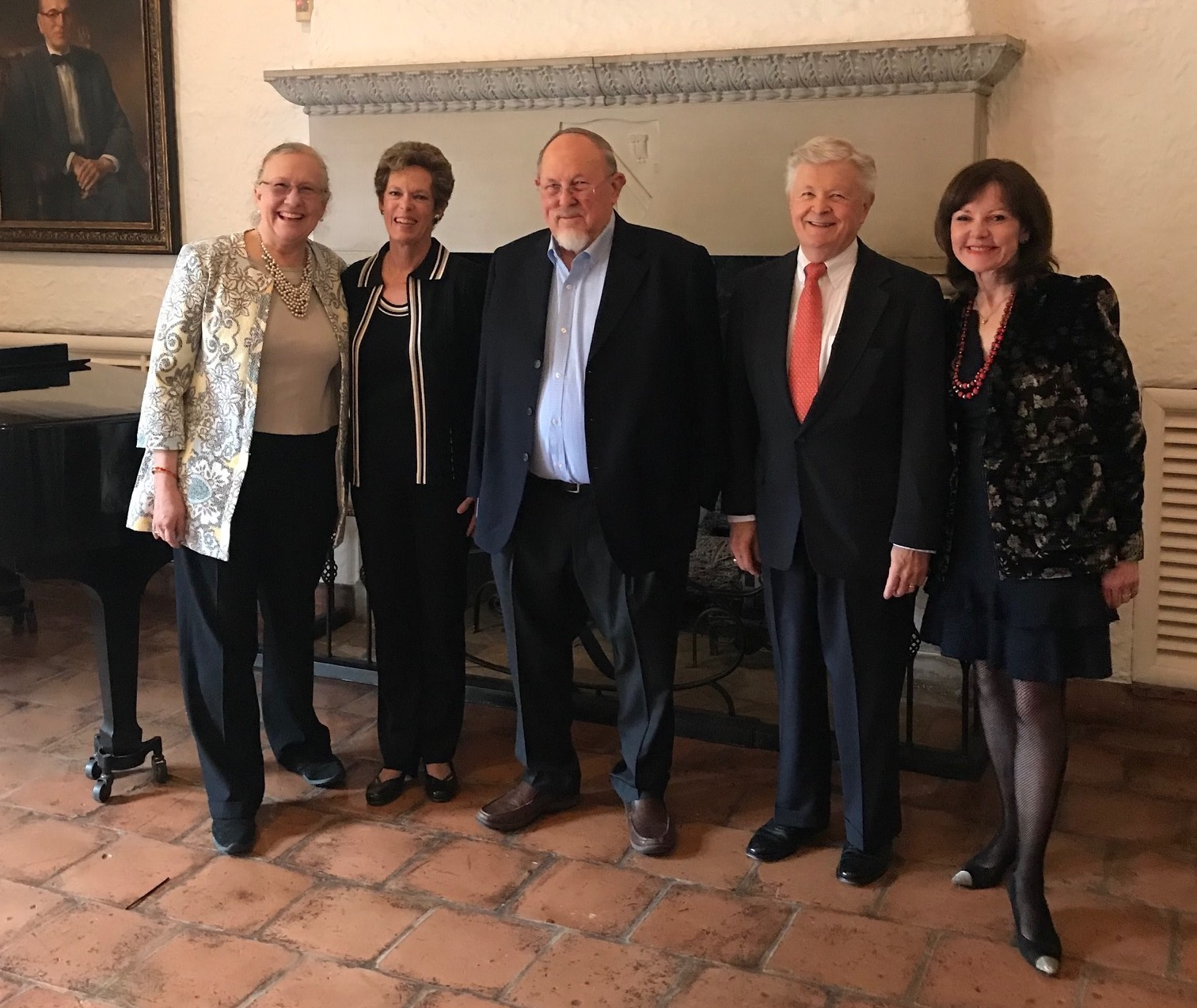 Doyle Arnold '70 with Dr. William Sharpe, who delivered a RISE Lecture in March 2018, and friends from business school. (L-R: Polly Shouse, Rhonda Brooks '74, Dr. William Sharpe, Doyle Arnold '70, Mary Ellen Zellerbach)